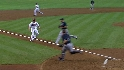 Johnson scores on wild pitch