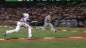 Heyward scores on wild pitch