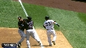 Swisher&#039;s bunt loads the bases
