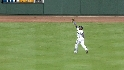 Borbon's running catch