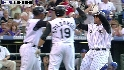 Olivo's three-run jack