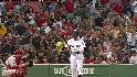 Pedroia receives an ovation