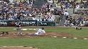 Podsednik scores on wild pitch