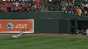 Borbon's diving catch