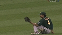 Crisp's diving catch