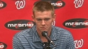 Strasburg on his elbow injury