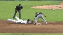 Pierzynski catches the runner