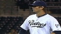 Luebke&#039;s first big league win