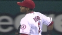 Aybar's spinning throw