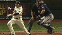 Mauer hit by broken bat