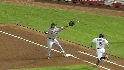 Kinsler&#039;s speed causes a run