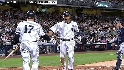 Jeter scores on a walk