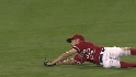 Bourjos' sliding grab
