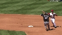 Pierzynski breaks up double play
