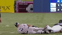 Jeter beats out a single