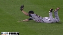 Wells' diving catch