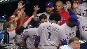 Rangers' four-run fifth