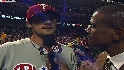 Hamels on his shutout