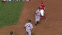 Wood picks off Kinsler