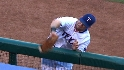 Moreland&#039;s catch at the rail