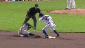 Molina throws out Granderson