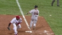Huff scores on Polanco&#039;s error