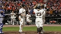 Giants' six-run fifth