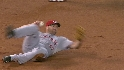 Rolen throws from his back
