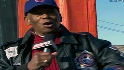Mr. Cub sings outside Wrigley