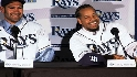 Damon, Manny introduced as Rays