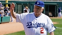 Lasorda visits Steiner in booth