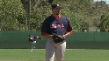 Beckett throws simulated game