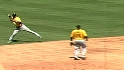 Cedeno's strong throw