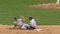 Belt&#039;s first career stolen base