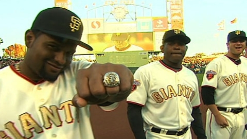 Giants to don gold-themed uniforms for ring ceremony