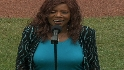 Gaynor sings anthem