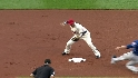 Carmona induces double play