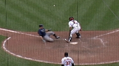 Longoria hits a inside the park homer