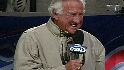 Uecker sings during stretch