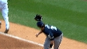 Gamel hit by wayward helmet