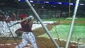 Harper takes batting practice