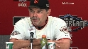 Bochy reacts after NL win