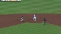 Freeman starts a double play