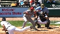 Weaver on Aybar's bunt