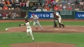 Lincecum gets hit by bat