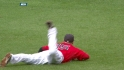 Pedroia&#039;s leaping grab