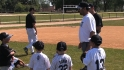 Guillen holds baseball camp