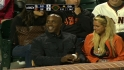 Bonds takes in the game