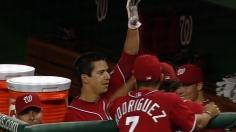 Milone goes yard in his 1st MLB at bat