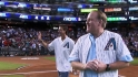 Johnson, Schilling first pitch